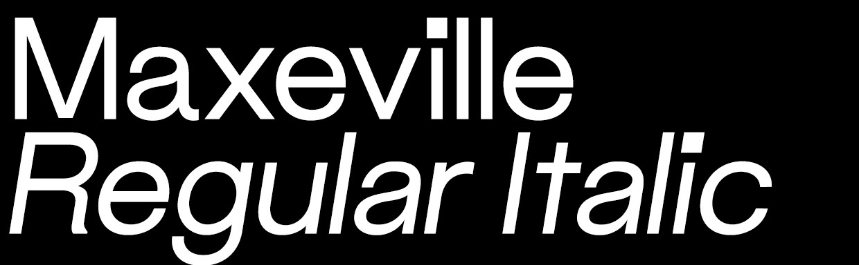 Maxeville Regular Italic (OTF)