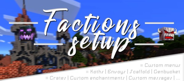 ① FACTIONS SETUP | 20% off | ■ Custom menus ■ | Envoys | Koths | Bounties | Custom messages | ...