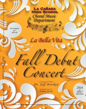 October 5, 2016 Fall Debut Concert