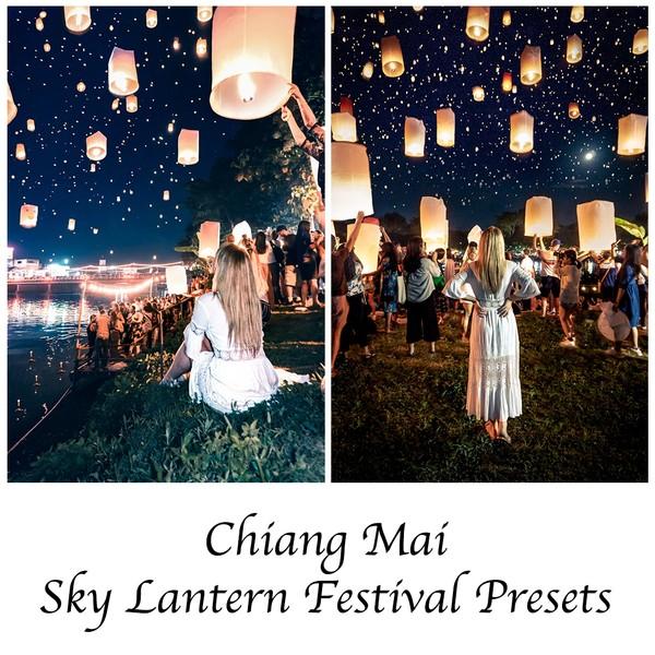 Chiang Mai Sky Lantern Festival Night Presets