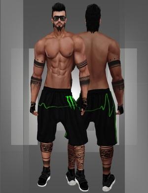 Shorts with tattoo v.2