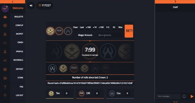 Vgo roulette script with crash, jackpot and coinflip