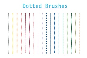 16 Dotted Vector Hand Drawn Brushes for Illustrator
