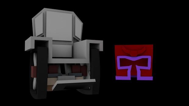 Cadeira Professor X/ Capacete Magneto (MC-Models)