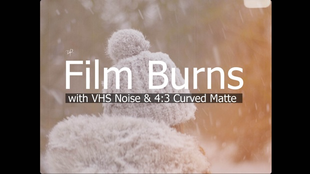 Film Burns // with VHS Noise & 4:3 Curved Matte