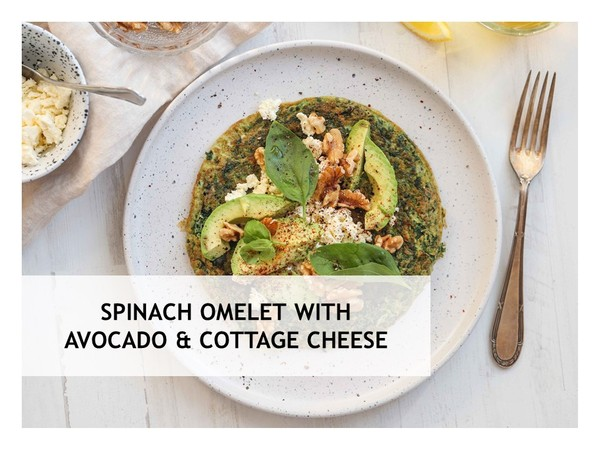 Spinach Omelet with Avocado Cheese