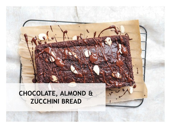 Chocolate, Almond and Zucchini Loaf