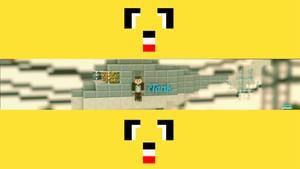 Minecraft:World Youtube Banner 3D