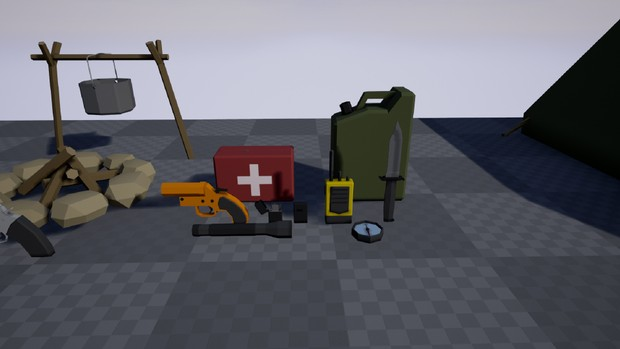Low Poly Survival Pack