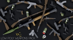 Low Poly Weapons Pack   UE4