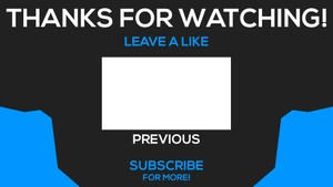 YouTube Outro Template!