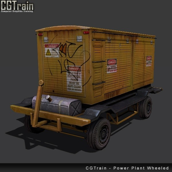 Power Plant Wheeled - 3D Asset for games