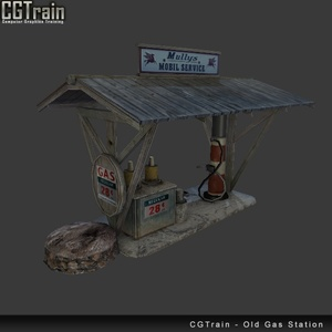 Old Gas Station - 3D Asset for games