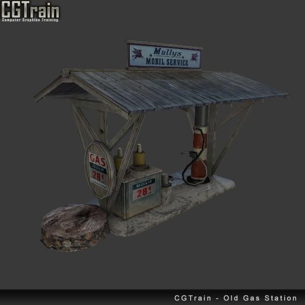 Old Gas Station - 3D Asset for games