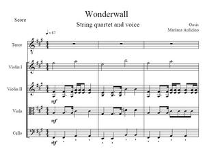 Wonderwall - Oasis - String Quartet + Vocals