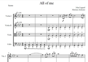 All Of Me - John Legend - String Quartet