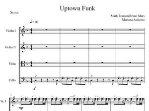 Uptown Funk - Bruno Mars - String Quartet