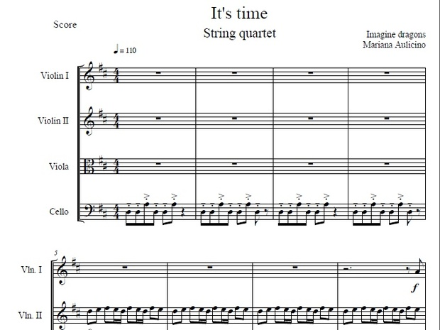 It's Time - Imagine Dragons - String Quartet