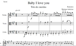 Baby I Love You - Ramones - String trio