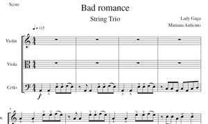 Bad Romance - Lady Gaga - String Trio