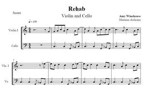 Rehab - Amy Winehouse - String duet