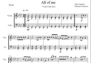 All Of Me - John Legend - String duet
