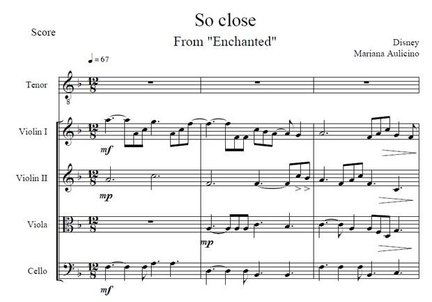 So Close (with vocals) - Enchanted (Disney) String Quartet