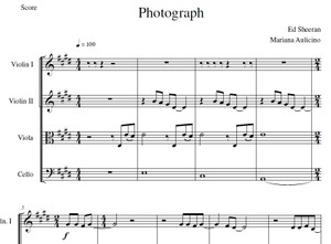 Photograph - Ed Sheeran - String quartet