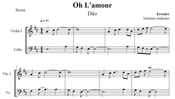 Oh L'amour - Erasure - String Duet