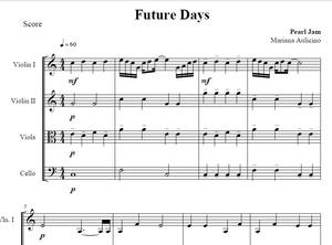 Future days - Pearl Jam - String Quartet