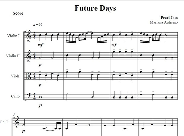 Future days - Pearl Jam - String Quartet