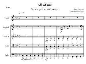 All of me - John Legend - String Quartet + Vocals