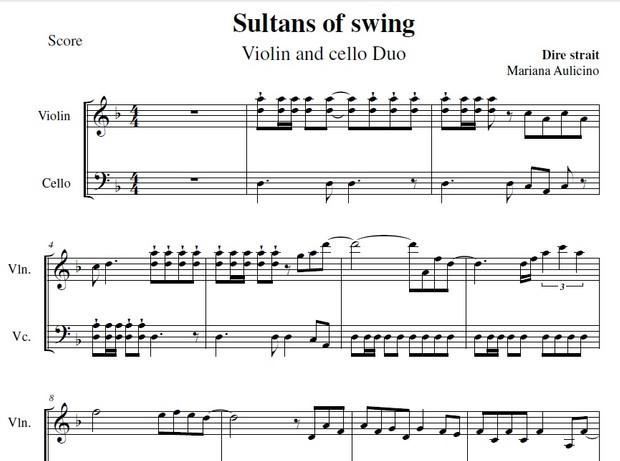Sultans of Swing - Dire Strait - String Duet
