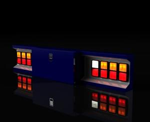 Backbumper with square lights