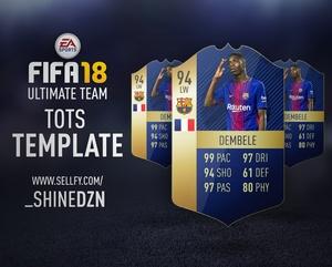 FIFA 18 TOTS TEMPLATE