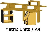Studio Workstation #1 (Metric units, mm) (Item #STU-009M)