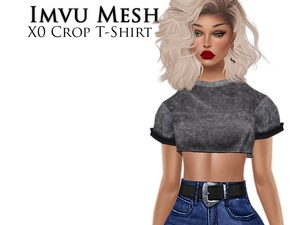 IMVU Mesh - Tops - X0 Crop T-Shirt