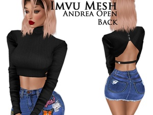 IMVU Mesh - Tops - Andrea Open Back