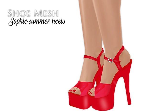 IMVU Mesh - Shoes - Sophie Summer Heels