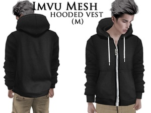 IMVU Mesh - Tops - Hooded Vest (M)