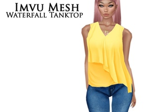 IMVU Mesh - Tops - Waterfall Tanktop