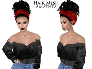 IMVU Mesh - Hair - Amathea