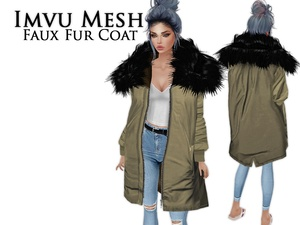 IMVU Mesh - Tops - Faux Fur Coat