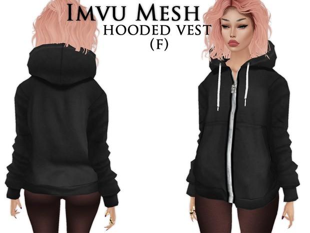 IMVU Mesh - Tops - Hooded Vest (M)