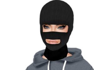 IMVU Mesh - Hair - Black Skimask