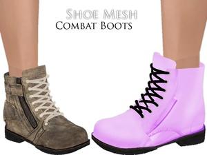 IMVU Mesh - Shoes - Combat Boots
