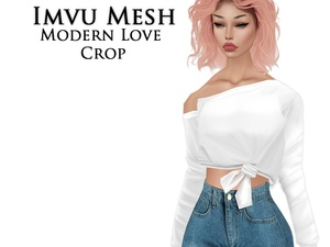 IMVU Mesh - Tops - Modern Love Crop