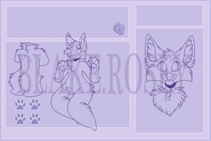 £10 Anthro Reference Sheet Lineart Pack