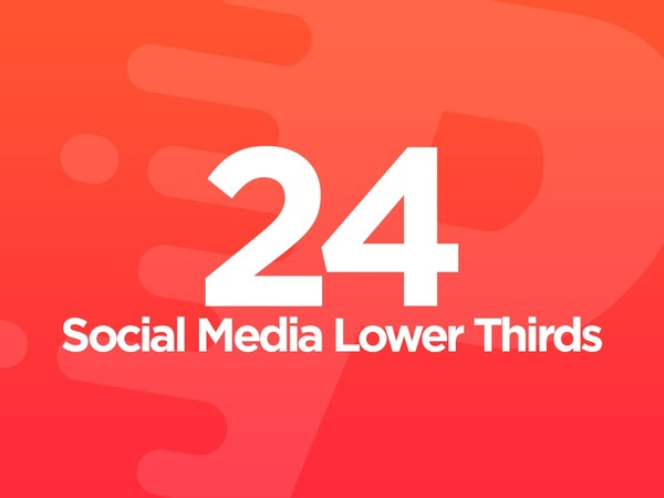 24 Social Media Lower Thirds - After Effects