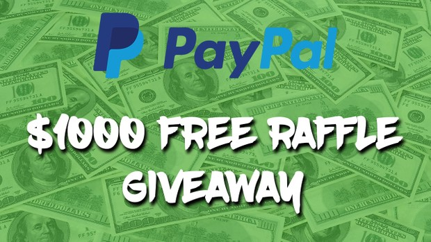 Enter PayPal Raffle Giveaway